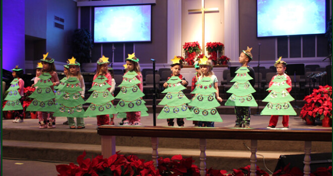 Son Kissed Preschool Christmas Pageant