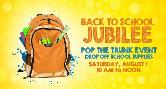 Back to School Jubilee Drop Off