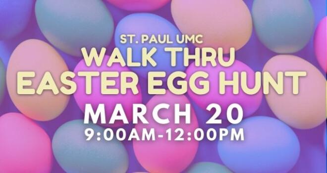 Walk Thru Easter Egg Hunt